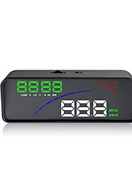 cheap -P9 3.5 inch LED Head Up Display LED indicator Alarm Multi-functional display Plug and play for Truck Bus Car Display KM/h MPH Driving
