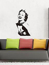 baratos -Decalque Autocolantes de Parede Decorativos - Adesivos de parede de pessoas Paisagem Reposicionável Removível