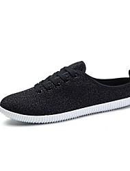 お買い得  -男性用 靴 デニム 夏 ライト付きソール スニーカー のために カジュアル ホワイト ブラック ベージュ