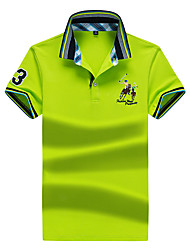 cheap -Men's Basic Street chic Polo-Solid Colored,Print
