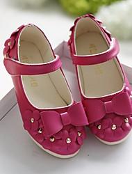 Недорогие -Девочки Обувь Полиуретан Весна Детская праздничная обувь На плокой подошве для Дети Красный / Синий / Розовый