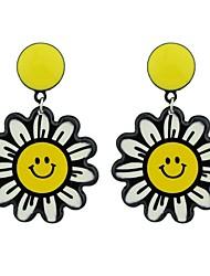 Недорогие -Жен. Серьги-слезки - Цветы Дамы Мода Бижутерия Желтый Назначение Подарок Свидание