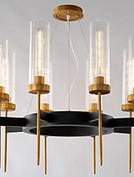 abordables -ZHISHU 8-luz Lámparas Araña Lámpara Torchiere de Pie - Ajustable, 110-120V / 220-240V Bombilla no incluida / 15-20㎡