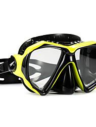 abordables -TUO Masque de Snorkeling / Masque de Nage Anti buée, Explosion-Proof Deux-fenêtre - Natation, Plongée PC - pour Adultes Jaune / Bleu /