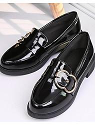 abordables -Femme Chaussures Polyuréthane Printemps / Automne Confort Mocassins et Chaussons+D6148 Talon Bottier pour Noir