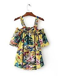 preiswerte -Damen Blumen - Grundlegend Hemd Druck