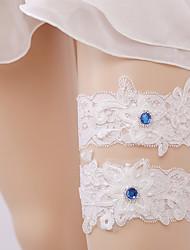 Недорогие -Кружева Носки Свадебный подвязка С Стразы Трикотаж Свадьба