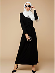cheap -Women's Sophisticated Street chic Sheath Swing Abaya Dress - Solid Colored