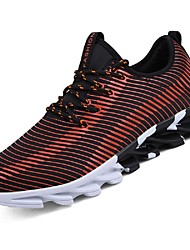 povoljno -Muškarci Cipele Til Mreža Ljeto Udobne cipele Sneakers Hodanje Planinarenje Trčanje za Kauzalni Vanjski Obala Crn Orange & Black