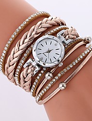 cheap -Women's Fashion Watch Chinese Imitation Diamond PU Band Casual / Fashion Black / White / Blue / One Year