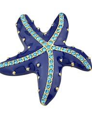 baratos -Mulheres Broches - Básico / Fashion Estrela do Mar Azul Broche Para Diário / Encontro