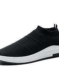 Недорогие -Муж. обувь Тюль Весна Осень Удобная обувь Мокасины и Свитер Для велоспорта для Атлетический Повседневные на открытом воздухе Черно-белый