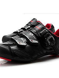 cheap -Tiebao® Road Bike Shoes Carbon Fiber Anti-Slip, Wearable, Breathability Cycling Black / Red Men's