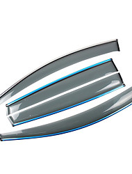 abordables -4pcs Voiture Déflecteurs et boucliers transparent Type de boucle / Type de pâte For Fenêtre de voiture For Honda Civic Toutes les Années