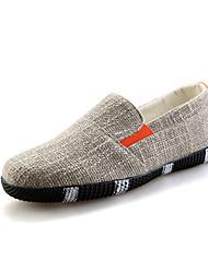 cheap -Men's Shoes Rubber Spring / Fall Comfort Athletic Shoes Black / Pool / Khaki