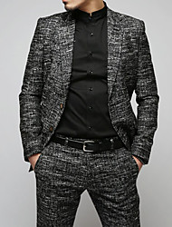 cheap -Men's Wool Blazer - Print / Color Block