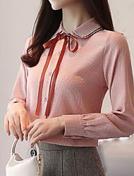 preiswerte -Damen Schachbrett - Geschäftlich Hemd Schleife