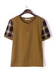 economico -T-shirt Per donna Essenziale Con stampe, A quadri