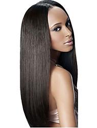 Недорогие -3 Связки Бразильские волосы Прямой Не подвергавшиеся окрашиванию Человека ткет Волосы Ткет человеческих волос Мягкость / Черный Расширения человеческих волос / Прямой силуэт