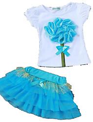 povoljno -Djevojčice Jednobojni Kratkih rukava Komplet odjeće