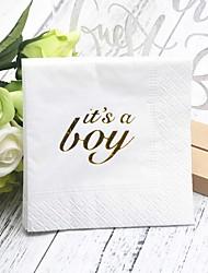 Недорогие -Чистая бумага Свадебные Салфетки - 5pcs Салфетки для ужина День рождения Классика