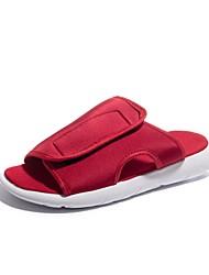 preiswerte -Herrn Schuhe Lycra Stoff Sommer Herbst Zehenring Sandalen für Normal Draussen Schwarz Rot Blau Schwarz / weiss
