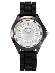 preiswerte -Damen Quartz Modeuhr Armbanduhren für den Alltag Chinesisch Armbanduhren für den Alltag Silikon Band Freizeit Modisch Schwarz Weiß Blau