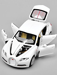 cheap -1:32 Bugatti Veyron with Battery Light Sound Pull Back Model Car Toy Car Toys Car Glow Metal Alloy Pieces