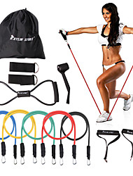 cheap -KYLINSPORT 12pcs Exercise Bands/Resistance bands Fitness Set Exercise & Fitness Gym Strength Training Rubber