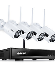 cheap -ZOSI® 4CH CCTV System Wireless 960P NVR with 4PCS 1.3MP IR Outdoor Cameras P2P Wifi IP Security System Surveillance Kit