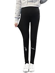cheap -Women's Basic Legging - Geometric High Waist
