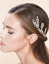 cheap -Imitation Pearl Hair Pin with Imitation Pearl 3 Pieces Wedding Party / Evening Headpiece