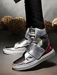 abordables -Homme Chaussures Polyuréthane Automne / Hiver Confort Basket Noir / Argent
