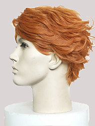 cheap -Synthetic Wig Curly Short Bob / Side Part Synthetic Hair Natural Hairline Light Brown Wig Men's Short Cosplay Wig / Natural Wigs / Party