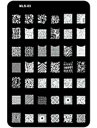 cheap -1 pcs Nail Stamping Tool Template Unique Design / Cartoon Nail Art Design Christmas / Wedding / Birthday