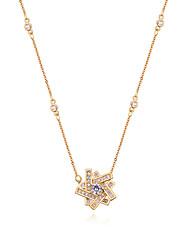 abordables -Femme Zircon Pendentif de collier - Zircon Etoile Européen, Mode Or, Argent, Or Rose 40 cm Colliers Tendance Pour Casual