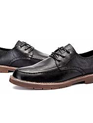 Недорогие -Муж. Полиуретан Весна / Осень Удобная обувь Туфли на шнуровке Черный / Коричневый
