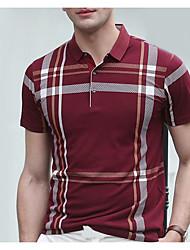 cheap -Men's Polo - Striped Shirt Collar