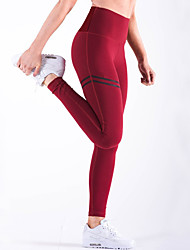cheap -Women's Daily Sports Sporty Legging - Color Block High Waist