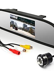 Недорогие -4,3-дюймовый монитор + камера заднего вида с 8 светодиодными фонарями и широкоугольной камерой парковки на 170 градусов
