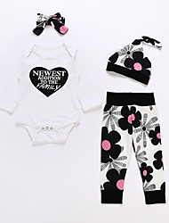 cheap -Baby Unisex Floral Long Sleeves Clothing Set
