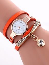 Недорогие -Жен. Кварцевый Модные часы Китайский Повседневные часы PU Группа Богемные Цветной Черный Белый Синий Красный Оранжевый Коричневый Зеленый