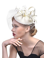 cheap -Non-woven fabric Feathers Fascinators Hats Headdress Headpiece Hair Accessory with Feather 1pc Wedding Party / Evening Headpiece