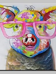 baratos -mintura® pintados à mão porco animal pintura a óleo sobre tela moderna abstrata retrato da arte da parede para decoração de casa pronto para pendurar