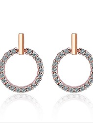 cheap -Women's Cubic Zirconia Geometric Stud Earrings / Hoop Earrings - Zircon, S925 Sterling Silver European, Korean, Fashion Gold / Silver For Wedding / Daily