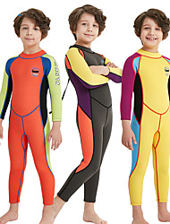 cheap -Boys' Full Wetsuit 2mm SCR Neoprene Diving Suit High Elasticity, Stretchy, UPF50+ Long Sleeve Back Zipper / Patchwork
