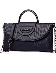 baratos -Mulheres Bolsas PU Leather Tote Ziper para Casual / Escritório e Carreira Vermelho / Cinzento / Roxo