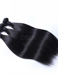 cheap -Brazilian Hair Straight Human Hair Extensions 3 Bundles 16inch Human Hair Weaves Machine Made Smooth Natural Black Women's