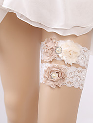 baratos -Chiffon Renda Fashion Casamento Wedding Garter  -  Pedrarias Perola Imitação Ligas Casamento Festa
