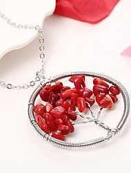 cheap -Pendant Necklace - Tree of Life Sweet, Fashion Red, Blue 46 cm Necklace For Party / Evening, Daily